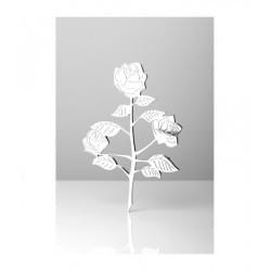 Owalna fotoceramika 3D w sepii z białym paskiem