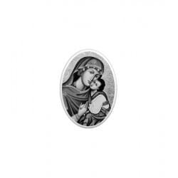 Medalion (mały medalik) owal czarno-biały