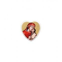 Medalion (mały medalik) serce proste kolor